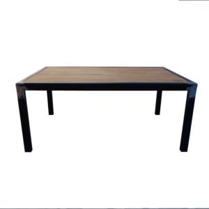 table basse industrielle plateau chêne
