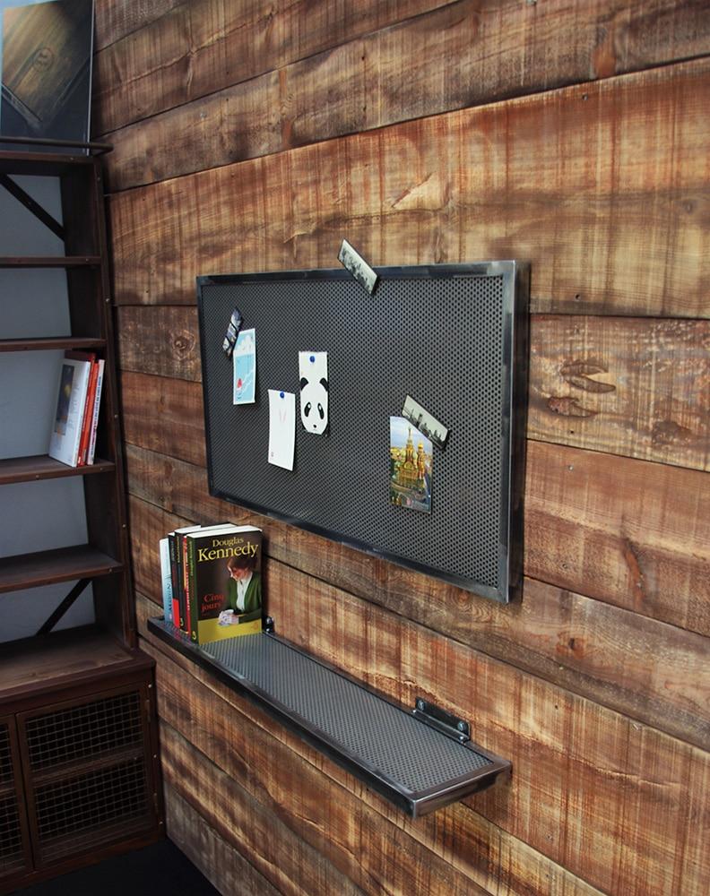cadre porte photo industriel en t le perfor e. Black Bedroom Furniture Sets. Home Design Ideas